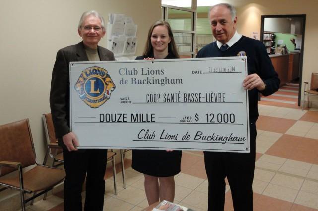 Le Club Lions de Buckinghama récemment offert un don de 12 000 $ à la... (Courtoisie)
