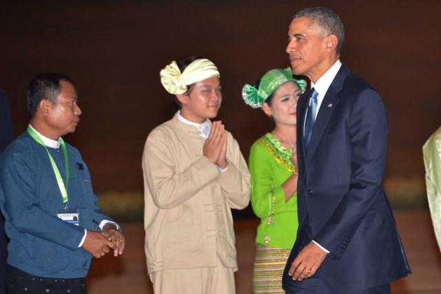 Barack Obama était attendu à un dîner officiel... (PHOTO MANDEL NGAN, AFP)