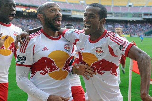 Thierry Henry (à gauche) dispute ses meilleures séries... (Photo Brad Mills, USA Today Sports)
