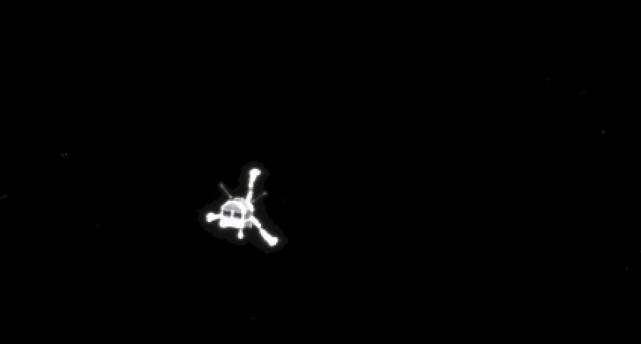 Une image de Philae prise par la sonde... (PHOTO D'ARCHIVES)