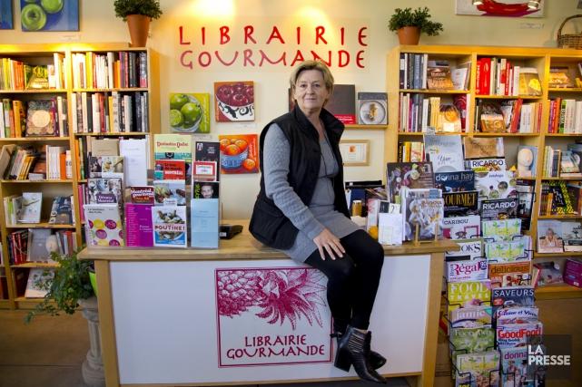 Anne Fortin, propriétaire de la Librairie gourmande et... (Photo: Alain Roberge, La Presse)