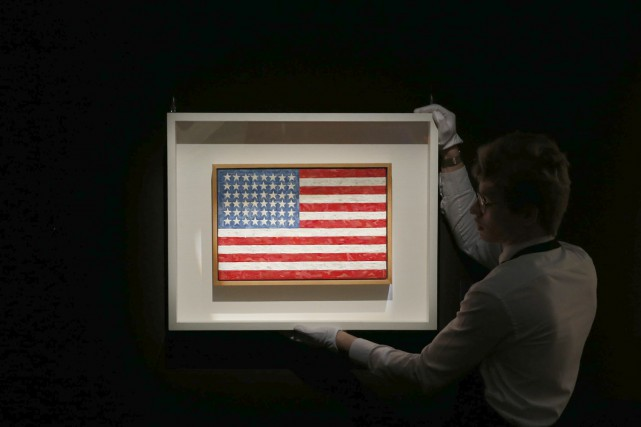 Flag de Jasper Johns... (Photo: Reuters)