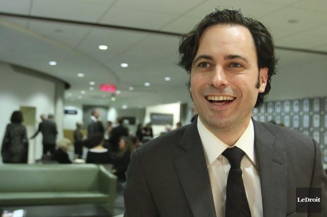 PhilippeBernier Arcanda été couronné du Prix du livre d'Ottawa, hier soir,... (Patrick Woodbury, LeDroit)