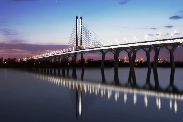 Illustration du nouveau pont qui remplacera l'actuel pont... (Photo fournie par Infrastructure Canada)