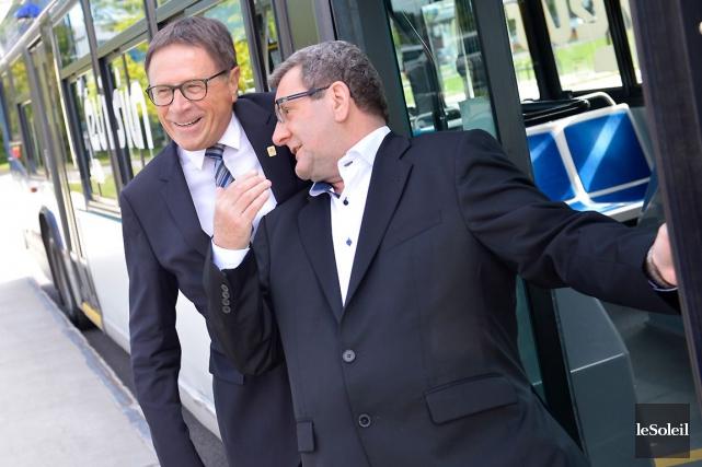 Gilles Lehouillier et Régis Labeaume se rendront ensemble... (Le Soleil, Yan Doublet)