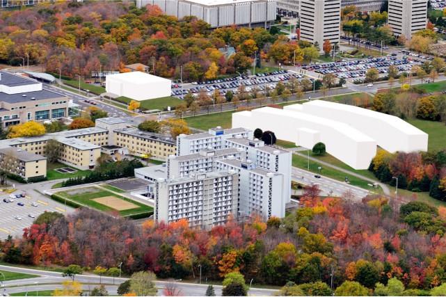 Les résidences étudiantes auraient été situées dans deux... (Photo fournie par l'Université Laval)