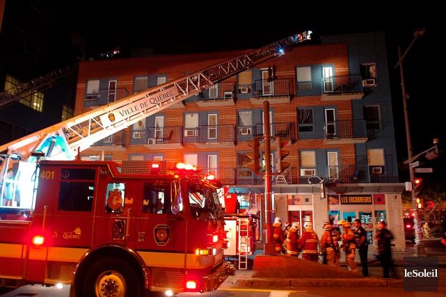 L'incendie allumé par une sexagénaire dans une coopérative... (Photothèque Le Soleil, Jean-Marie Villeneuve)