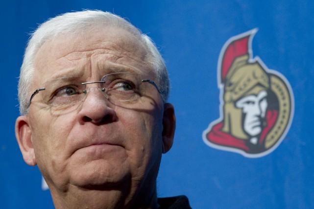 Le directeur général des Sénateurs d'Ottawa, Bryan Murray... (Photo Sean Kilpatrick, Archives PC)