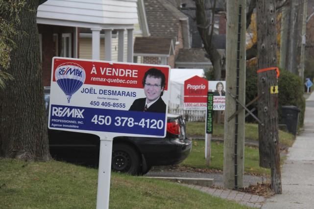 Le nombre de maisons vendues est en hausse,... (photo Janick Marois)