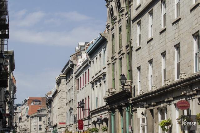 La rue Saint-Paul dans le Vieux-Montréal.... (Photo: Édouard Plante-Fréchette, La Presse)