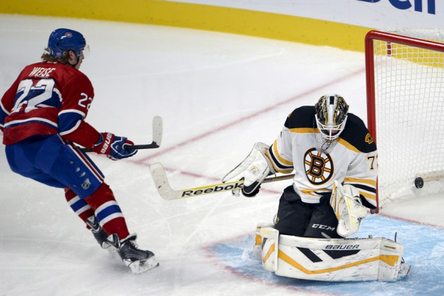 Dale Weise disputait son premier match contre Boston... (Photo: La Presse Canadienne)