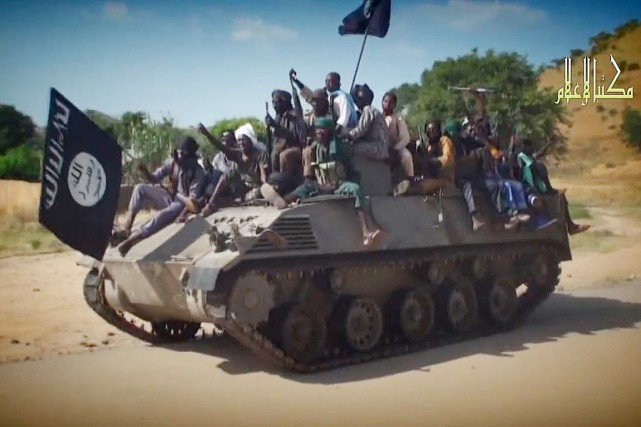 Sur cette photo diffusée par l'organisation terroriste le... (PHOTO ARCHIVES AFP/BOKO HARAM)
