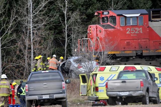 La collision est survenue jeudi après-midi, sur la... (Photo collaboration spéciale Éric Beaupré)