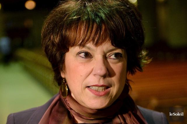 La ministre de la Culture Hélène David a... (Photothèque Le Soleil, Erick Labbé)