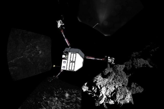 Les scientifiques ont ordonné à Philae d'effectuer une... (PHOTO ESA/Rosetta/Philae/CIVA/AFP)
