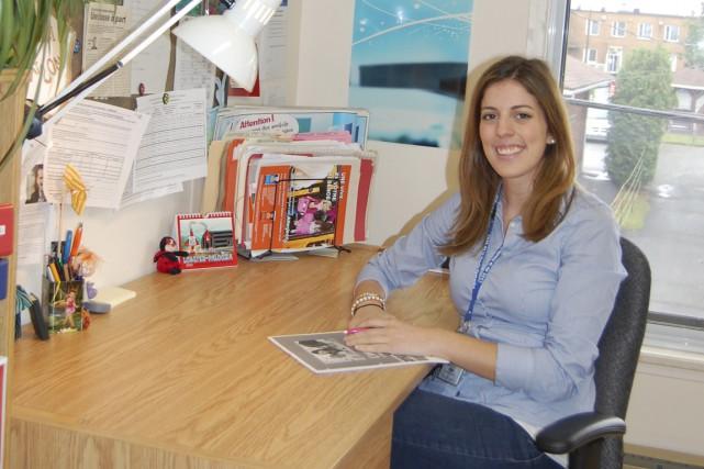 Mélissa Tessier est infirmière clinicienne en santé scolaire... (Photo fournie par le CSSS de la Haute-Yamaska.)