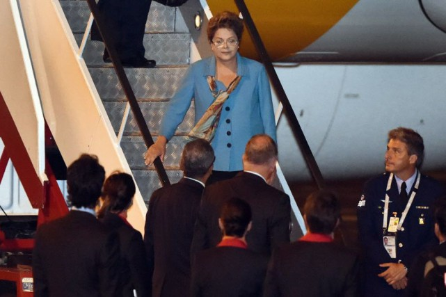 La présidente du Brésil Dilma Rousseff lors de... (PHOTO William West, AFP)