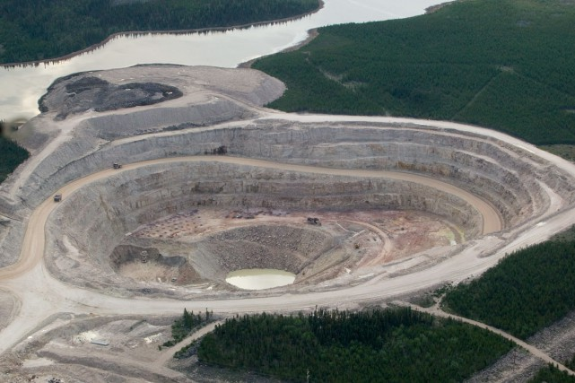 La mine de McCLean Lake en Saskatchewan... (Photo AFP, David Boily)
