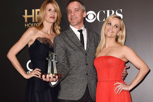 Laura Dern, Jean-Marc Vallée et Reese Witherspoon... (PHOTO AP, JORDAN STRAUSS)