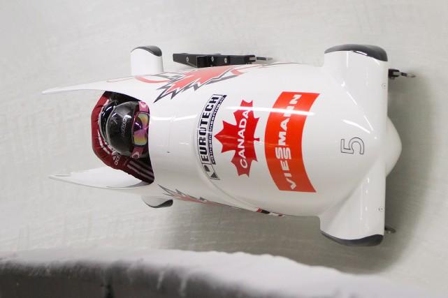 La championne olympique canadienne Kaillie Humphries a pris le sixième rang et... (Photo DARRYL DYCK, PC)