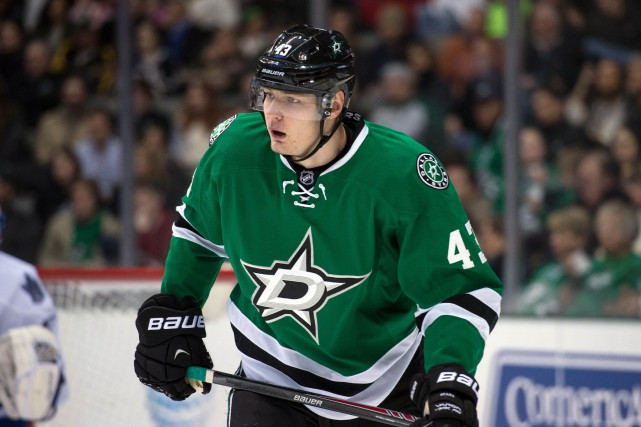 L'attaquant des Stars de Dallas Valeri Nichushkin... (Photo Jerome Miron, AP)