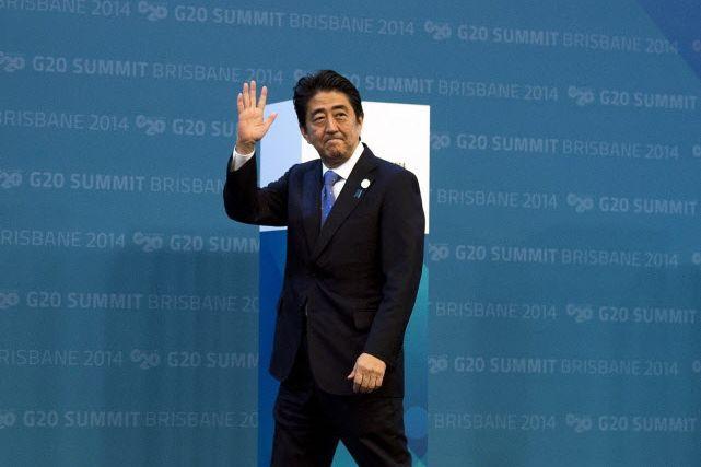Le premier ministre japonais Shinzo Abe a rencontré... (PHOTO ALAIN JOCARD, AFP)