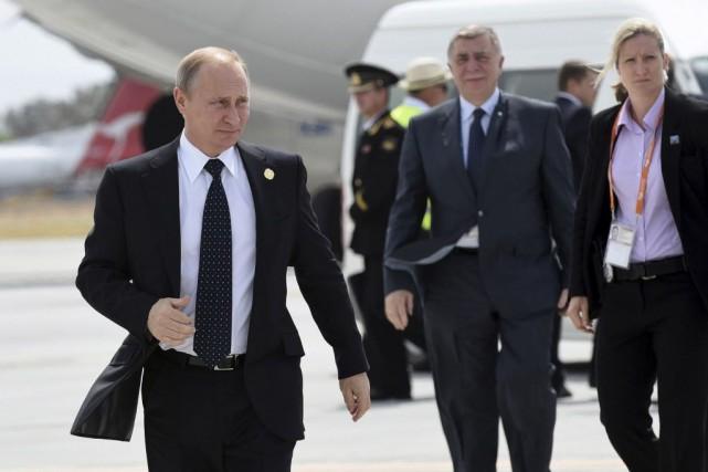 M. Poutine a salué une atmosphère et des... (PHOTO G20 Australia/REUTERS)