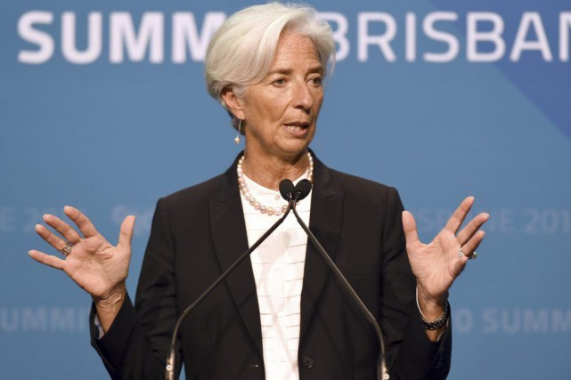 La présidente du Fonds Monétaire International (FMI), Christine Lagarde,... (PHOTO WILLIAM WEST, AFP)