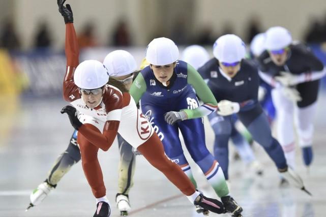 Ivanie Blondin (photo), le double médaillé olympique Denny... (Photo AFP)