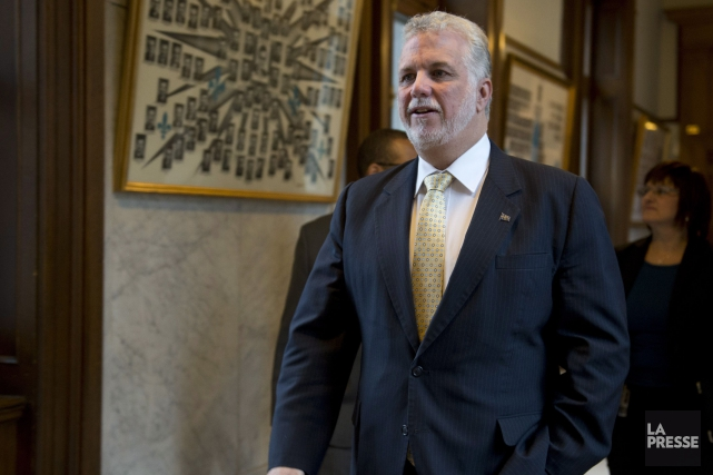 Le premier ministre Philippe Couillard... (Photo Jacques Boissinot, La Presse Canadienne)