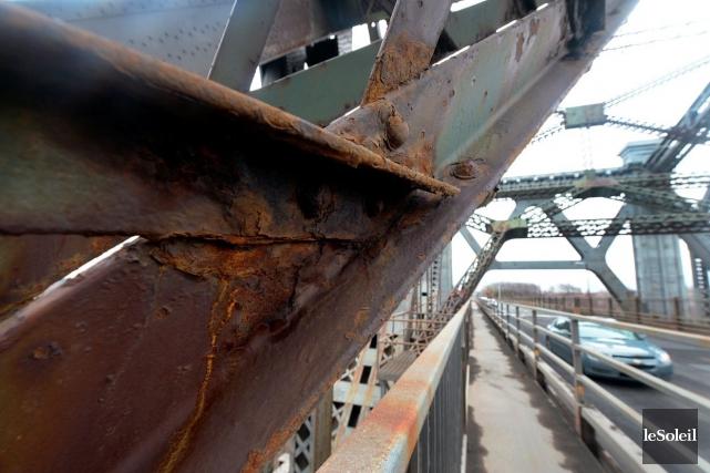 La rouille sur le pont de Québec... (Photothèque Le Soleil, Erick Labbé)