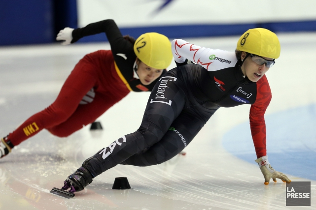 Marianne St-Gelais a évité le blanchissage à l'équipe... (PHOTO MARTIN CHAMBERLAND, ARCHIVES LA PRESSE)