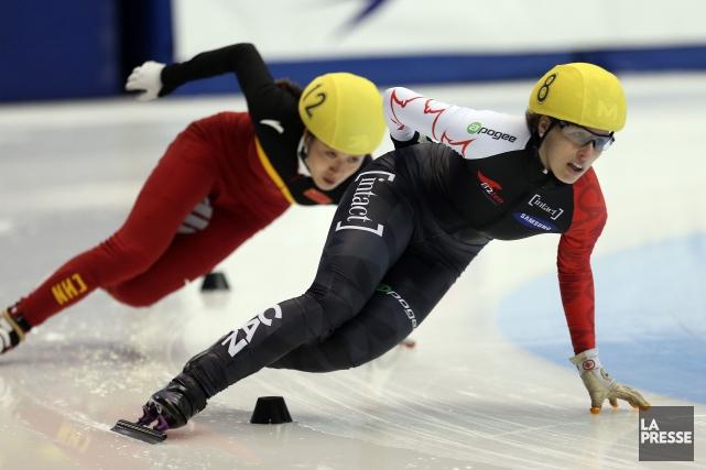 Marianne St-Gelais a remportésa quatrième médaille individuelle de... (PHOTO MARTIN CHAMBERLAND, ARCHIVES LA PRESSE)