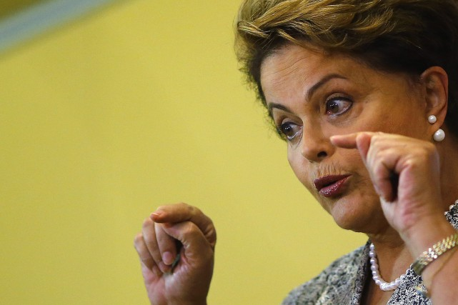 La présidente du Brésil Dilma Rousseff... (PHOTO RICARDO MORAES, ARCHIVES REUTERS)