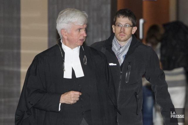 L'avocat de la défense, Me Luc Leclerc, et... (PHOTO HUGO-SÉBASTIEN AUBERT, LA PRESSE)