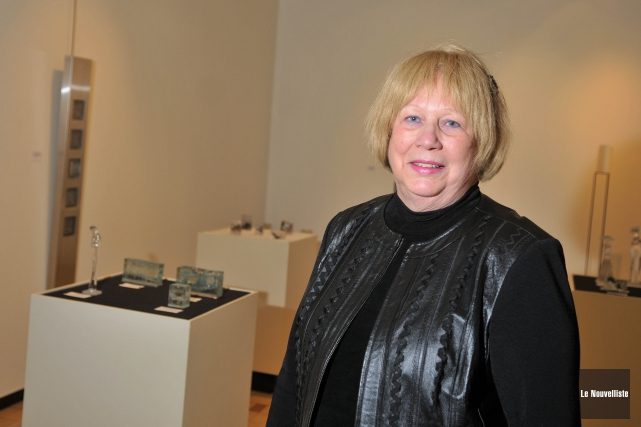 La sculpteure trifluvienne Solange Lefebvre présente pas moins... (Photo: Émilie O'Connor, Le Nouvelliste)