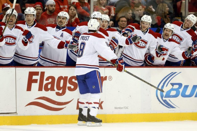 Brandon Prust a marqué d'un tir vif dans... (Associated Press)