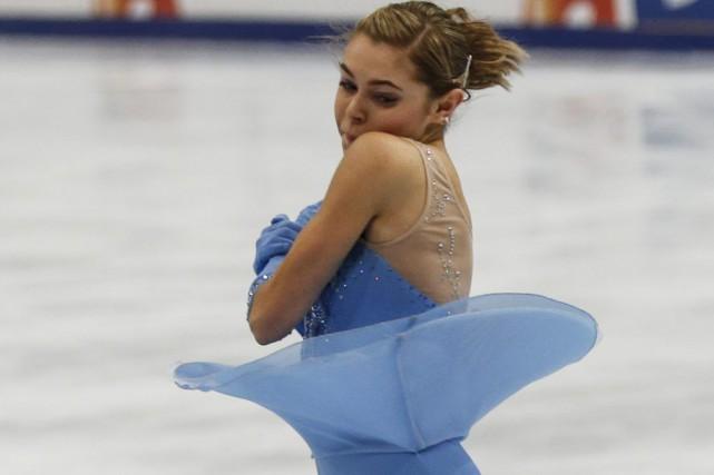 Alaine Chartrand a remporté une première médaille internationale.... (Associated Press)