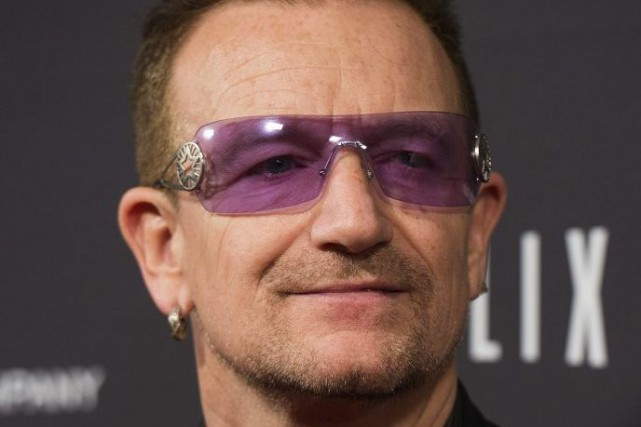 Le leader du célèbre groupe U2 discutera de l'initiative... (Photo: archives AFP)