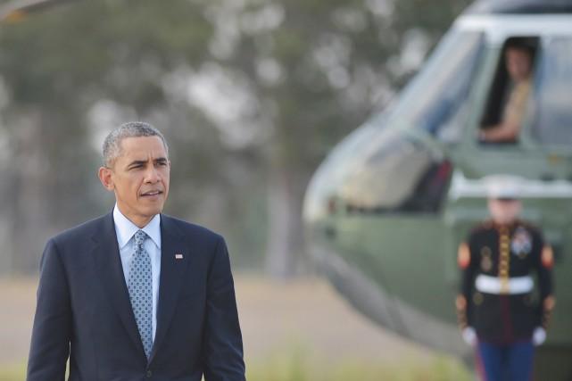 Le président des États-Unis, Barack Obama, qui était... (PHOTO MANDEL NGAN, ARCHIVES AFP)
