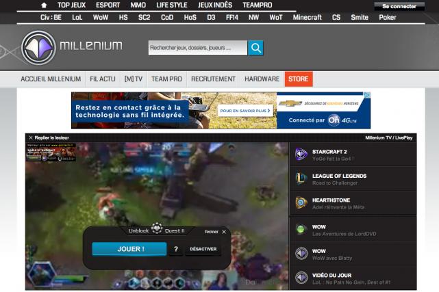 Le groupe de médias sur internet Webedia, propriété de Fimalac, la société de... (Capture d'écran de millenium.org)