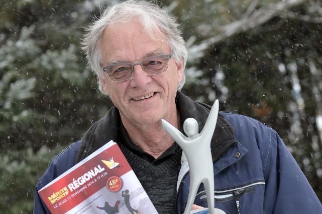 À son grand étonnement, Denis Poulin a remporté... ((Photo Rocket Lavoie))