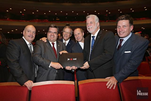De gauche à droite: Robert Poëti, Denis Coderre,... (Photo: Patrick Sanfaçon, La Presse)