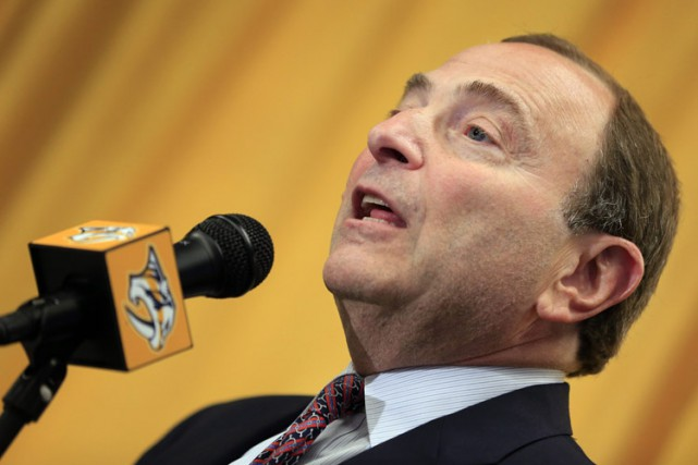 Gary Bettman a prévenu que la venue de... (Photo: PC)