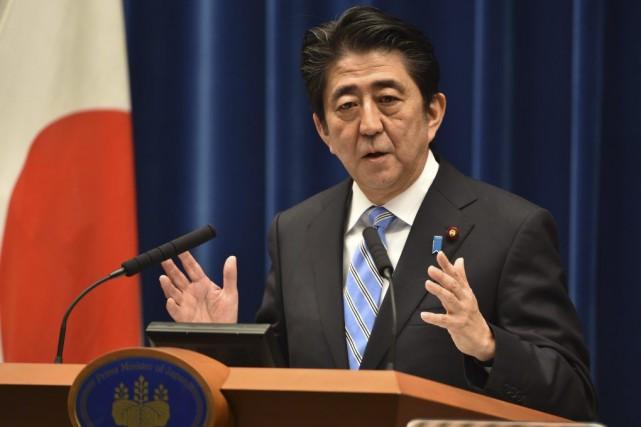 Le premier ministre japonais Shinzo Abe.... (PHOTO KAZUHIRO NOGI, AFP)