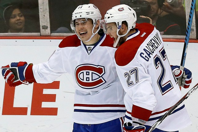Brendan Gallagher et Alex Galchenyuk ont contribué, dimanche,... (Photo Paul Sancya, AP)