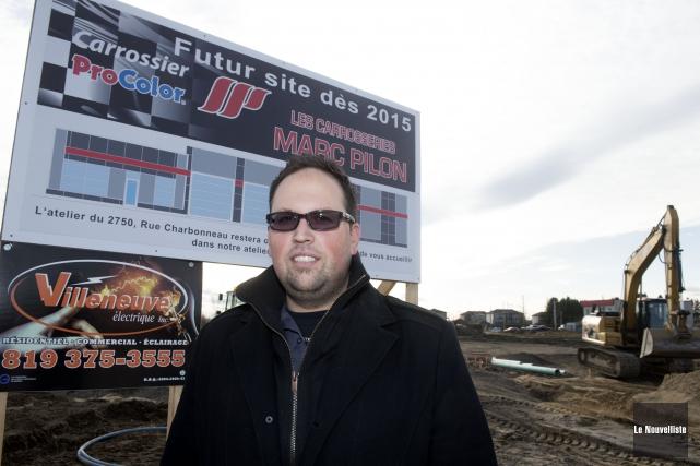 Le directeur des Carrosseries Marc Pilon, Hugo Pilon,... (Photo: Stéphane Lessard, Le Nouvelliste)
