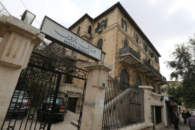 Situé dans le secteur gouvernemental près du Musée... (Photo JOSEPH EID, AFP)