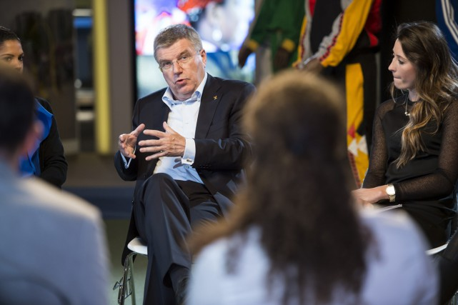 Le président du Comité international olympique, Thomas Bach.... (Photo Jean-Christophe Bott, AFP)
