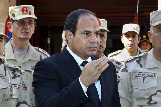 Le président de l'Égypte,Abdel Fattah al-Sissi... (Photo Mohammed Samaha, Archives AP)